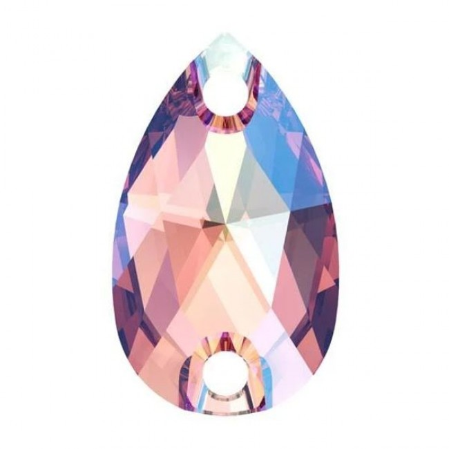 Rose Peach Shimmer 3230 Pear Shape Swarovski